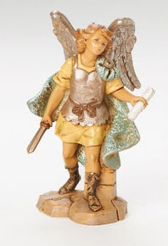 Fontanini by Roman Gabriel The Archangel Figurine, -- See this great product. (This is an affiliate link) Italian Christmas, Christmas Art, Nativity Stable, Nativity Sets, Fontanini Nativity, Catholic Books, Family Traditions, Gift Store, Book Gifts