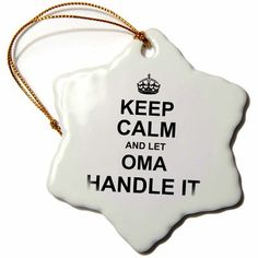 Latitude Run Keep Calm and Let the Sheriff Handle It, Fun Funny Career Job Pride Snowflake Holiday Shaped Ornament Black Eyed Peas, Snowflake Ornaments, Snowflakes, Grandfather Gifts, Work Gifts, Gifts For Family, Keep Calm, Funny Gifts, Best Gifts