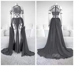 #askasu #grey #elf #alternative #fashion #design #harness #dark