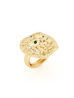 Lion Ring by Kenneth Jay Lane
