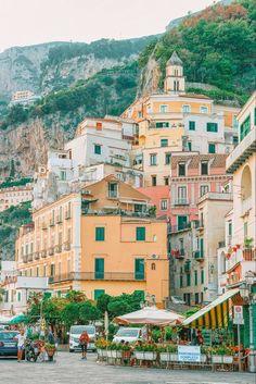 Along the Amalfi Coast in Italy.