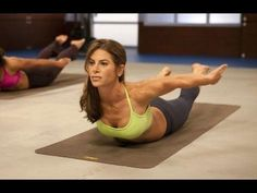Jillian Michaels: Yoga Meltdown Level1 I have this at home...really like it. This youtube channel has great videos on it!
