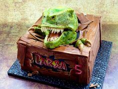 Escaping Dinosaur Cake