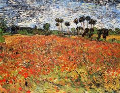 Vincent van Gogh Field With Poppies / Poppy Field Auvers-sur-Oise, June 1890 Beautiful floral vintage fine art painting. Buy Van Gogh Prints at Fine Art America Vincent Van Gogh, Google Art Project, Art Van, Rembrandt, Van Gogh Arte, Van Gogh Pinturas, Van Gogh Paintings, Canvas Paintings, Canvas Art