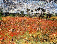 Vincent Van Gogh - Post Impressionism - Auvers - Champ de coquelicots - 1890  Be Sure To Visit:  http://universalthroughput.imobileappsys.com/