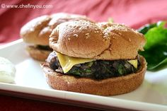 Vegetarian Black Bean Burger Recipe (add pasta, gnocchi, something other than the bun)