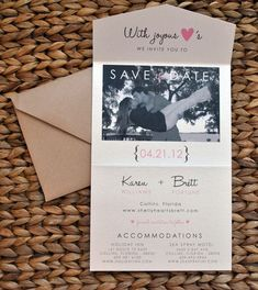 Don't like the picture pose, but like the layout of the save the date card