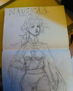 10 min doodle of #nausicaaofthevalleyofthewind #nausicaa #hayaomiyazaki #art #ghibli #studioghibli #رسم #كلنا_رسامين #illustration #draw #anime by aseelsoulart