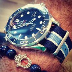My #typenone diabetes NATO watch strap arrived. Looks great! Say no to sugar ;) @thebalancewheel #omega #seamaster #diabetes #sm300 #swissmade by instanorz #omega #seamaster #watchesformen