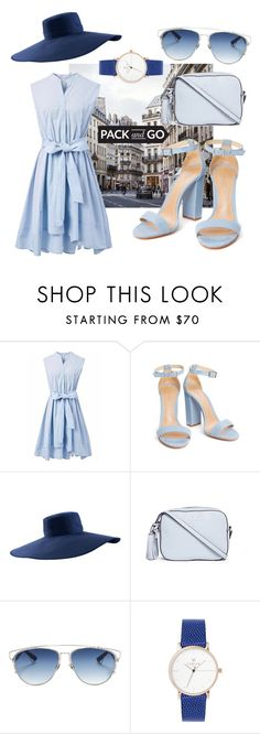 """""""Feeling blue in Paris"""" by pelita2084 ❤ liked on Polyvore featuring Chicwish, AirField, Tory Burch, Christian Dior, Packandgo and greekislands"""