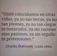Esta frase de Charles Bukowski compartida por un Run Away en su tablero Bu! de Pinterest es una invitación a reconocer y definir que cosas no se pueden cambiar y cuáles si, y actuar en consecuenci…