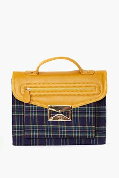 Camden Plaid Satchel