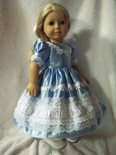 1850 s style dress made for American Girl dolls by Lillianloy