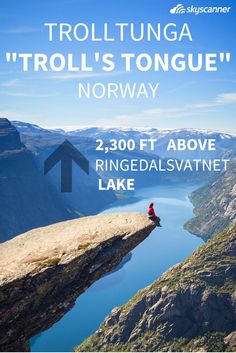 Second on our list of Europe's most surreal places is Trolltunga – a.k.a. Troll's Tongue –one of the more popular spots in Norway. Sitting almost 2,300 feet above Ringedalsvatnet lake, Trolltunga juts out for an incredible view of the water and the surrounding mountains. And it doesn't hurt that you can take some killer photos yourself while checking it out.