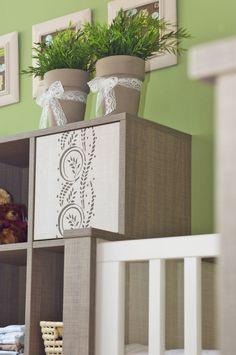 Baby furnitures with charming flower pattern. / Bababútorok bájos virág mintával. Cot, Planter Pots, Crib Bedding, Cots, Infant Bed, Crib