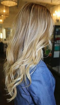 blonde hair look--this is what I want!!!