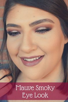 Smoky makeup looks don't have to consist of just dark, black colors -- you can easily create a mauve smoky eye look just like you would with dark colors.  // Beauty With Lily