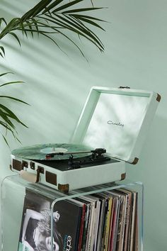 Shop Crosley Cruiser Mint Vinyl Record Player at Urban Outfitters today. We carry all the latest styles, colours and brands for you to choose from right here. Mint Green Aesthetic, Aesthetic Colors, Aesthetic Photo, Music Aesthetic, Aesthetic Plants, Aesthetic Light, Aesthetic Bedroom, Aesthetic Collage, Aesthetic Pictures