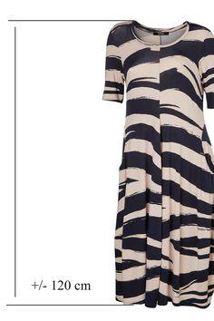 MUST HAVE - jersey kjole fra Qneel - printet :