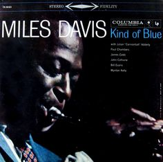 Kind of Blue is a studio album by American jazz musician Miles Davis, released August on Columbia Records in the United States. Vinyl Music, Lp Vinyl, Vinyl Records, Pink Floyd, Blue In Green, Kind Of Blue, Ella Fitzgerald, Louis Armstrong, Green Miles