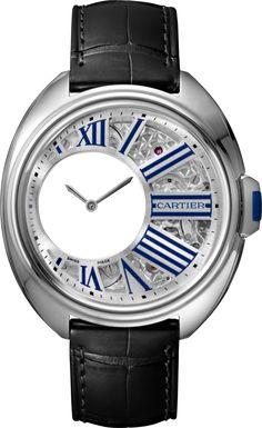 f6612c88ee9f  Cartier Cle De Cartier Mysterious Hours Palladium  Watch Iwc Replica