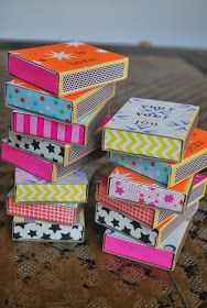 Washi tape matchboxes.