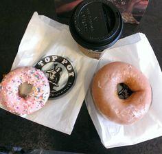 Top Pot Doughnut and coffee