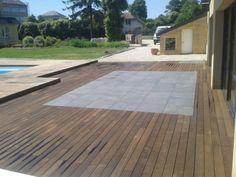 Composite deck terrace on the carpet
