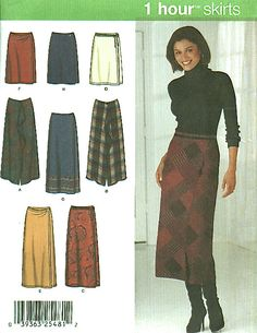 Easy ONE PIECE SKIRT Sewing Pattern  Skirts in 2 lengths #patterns4you