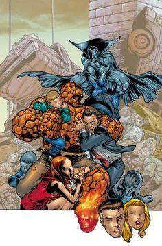 The Grey Gargoyle vs Fantastic Four by Carlos Pacheco