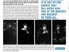 Henry Rollins praising a wonderful comedian, Bill Hicks.
