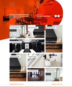 Untitled Architectural Portfolio Project by Metin Saray, via Behance #webdesign    I like the color scheme