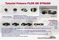 Quienlodira Creations: Tutorial Flower Rhinestones Bracelet
