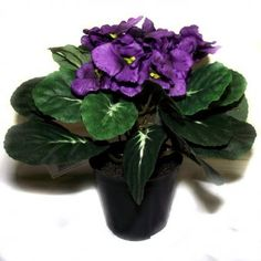 African Violet Artificial House Plant #Flowers