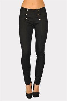 Button Up High Waist Jeans - Black
