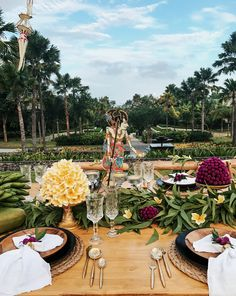 Shadow puppets and flowers add notes of local beauty to a garden celebration at The Ritz-Carlton, Bali.