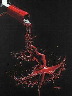 "Michael Godard's ""Wine Dance"" is amazing! Art Du Vin, Godard Art, Wine Painting, Wine Photography, Illustration Mode, Wine Art, Wine Time, Art Graphique, Erotic Art"