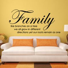 family like branches on a tree wall decal quote vinyl bedroom home mural decor 001