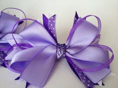 Leadline Pony Bows in Shades of purpleREADY TO by poshponybowtique, $12.00