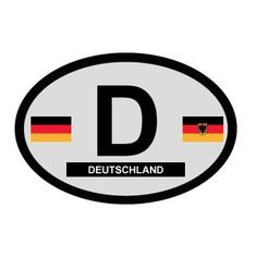 German Oval Decal - On Sale now! $1.00