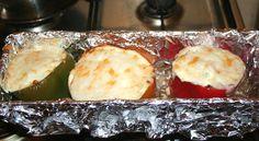 фаршированные перцы с козьим сыром