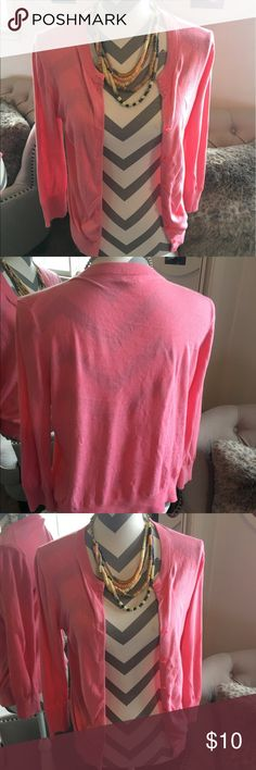 J. Crew cardigan Pink cardigan bought from the factory store. Great condition J. Crew Sweaters Cardigans