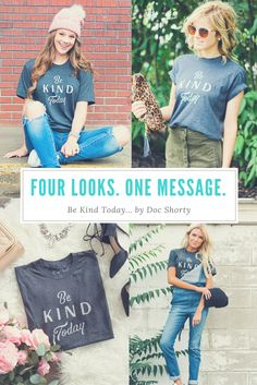 No matter how you style it, our Be Kind Today design is a classic that you can't go wrong with. Great style. Great message. It's a win/win.