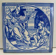 Mintons John Moyr Smith Old Testament Antique Tile Joseph Before King Pharoah | eBay