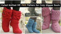 Free crochet pattern for slipper boots! #crochet #slippers