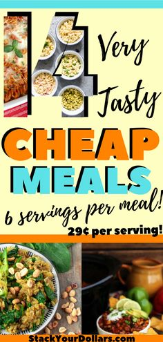 Looking for delicious budget meals for large families that aren't the same old, same old? Maybe you are looking for healthy budget friendly meals instead of eating boring packaged soup night after nig Freezable Dinners, Frugal Meals, Budget Meals, Dinner On A Budget, Dinner Ideas, Dinner Recipes, Meal Ideas, Food Ideas, Large Family Meals