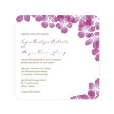Tropical Bliss Purple Wedding Invitations