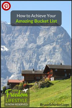 """Are you tired of your bucket list looking like an """"I wish list""""?  Having trouble even creating your list?  I felt that way too until I found some great travel hacks to start living the travel lifestyle of my dreams.  Check out this post to start achieving YOUR amazing bucket list today! 