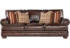 Shop for a Kentfield Leather Sofa at Rooms To Go. Find Leather Sofas that will look great in your home and complement the rest of your furniture. #iSofa #roomstogo