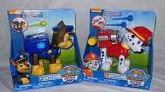 Paw Patrol Marshall is a Jumbo-sized pup with Jumbo-sized powers! Help Paw Patrol Marshall launch water cannons by placing them into his special backpack and press the release button to launch into so. Tennis Ball Launcher, Paw Patrol Gifts, Water Cannon, Parol, Bubble Guppies, Save The Day, Action Figures, Pup, Bubbles